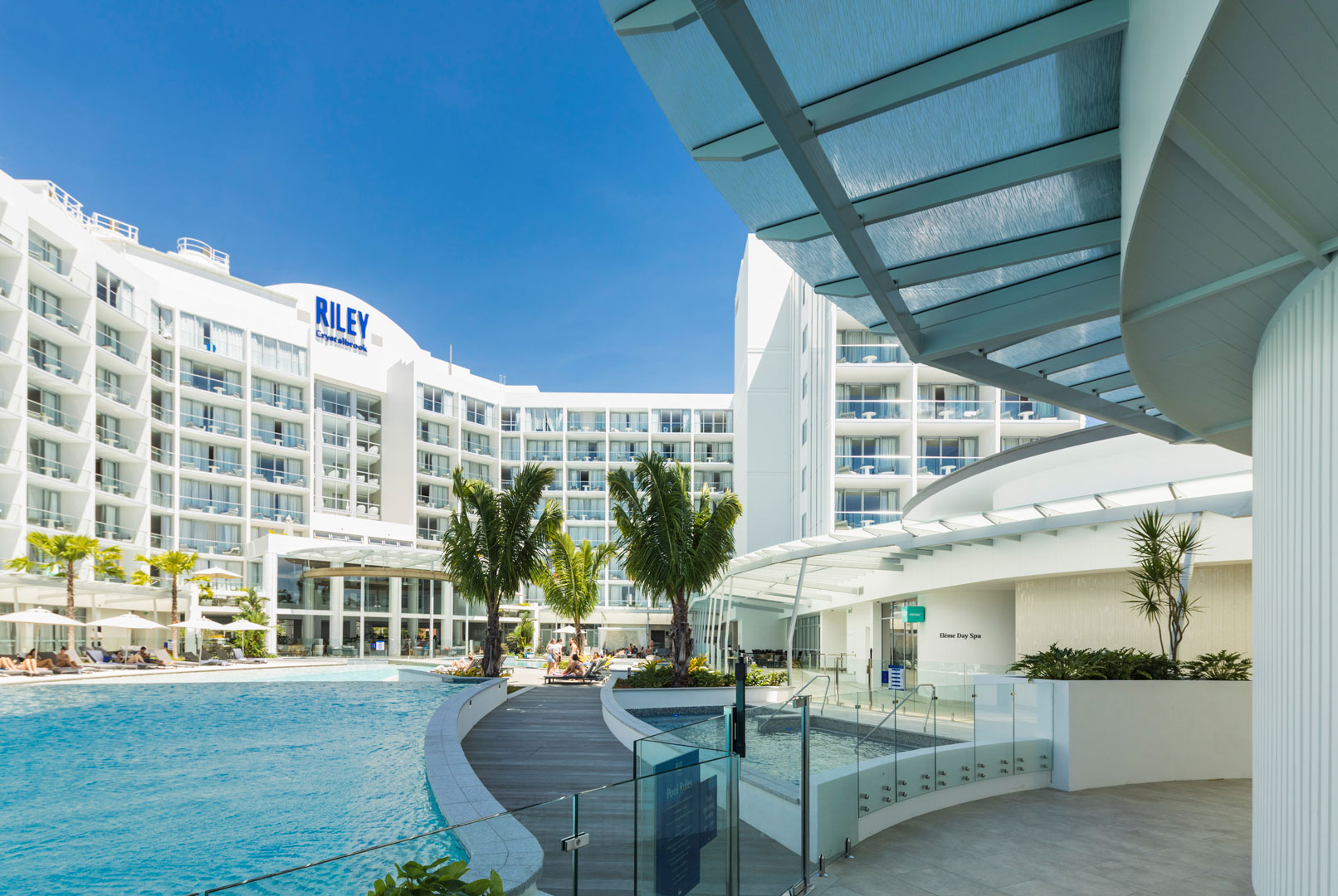 Photography of glass roof panels at the Riley Hotel, Cairns for National Glass - 11 April 2019.